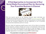 5 Approaches to Nurturing Your Franchise Business in Chennai