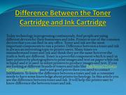Difference Between the Toner Cartridge and Ink Cartridge