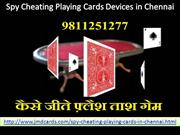 Spy Cheating Playing Cards Devices in Chennai