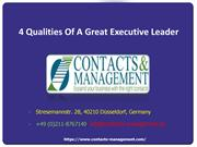 4 Qualities Of A Great Executive Leader