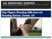 Clay Pigeon Shooting Gifts from AA Shooting School, Dorset,UK