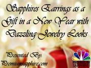 Sapphire earring as a gift in a new year with dazzling jewelry gifts