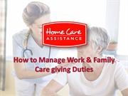 How to Manage Work & Family Care giving