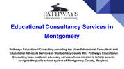 Educational Consultancy Services in Montgomery