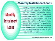 Monthly Installment LoansGet Perfect Financial Aid For Borrowers