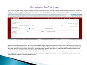 Process Of The Data Access for the Users