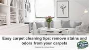 Easy carpet cleaning tips remove stains and odors from your carpets