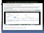 Create Item Organization and Inventory Organization