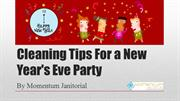 Cleaning Tips For a New Year's Eve Party