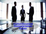 Certified International Commercial Contract Manager