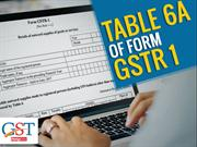 Definition and Know About Table 6A for Form GSTR 1