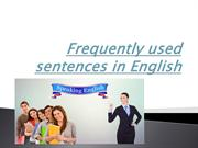 Frequently used sentences in English.in