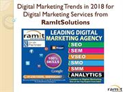Digital Marketing Trends in 2018 for Digital Marketing Services