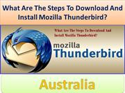 What Are The Steps To Download And Install Mozilla Thunderbird