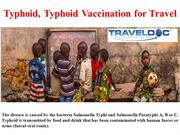 Typhoid,Typhoid Vaccination for Travel