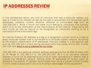 IP Addresses Review