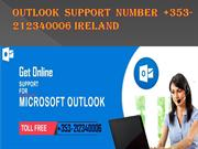Outlook Support Number +353-212340006 Ireland