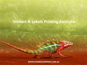 Stickers & Labels Printing Australia - Chameleon Print Group