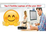Top 5 Toshiba Laptops of the year 2017