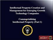 10-Commercializing Intellectual Property