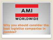 Why you should consider the best logistics companies in Zambia