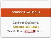 Armand Live Review | Huge Bonuses!