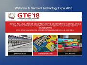 Welcome to Garment Technology Expo 2018