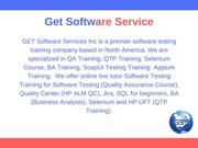 Get Software Service -QTP Training in Toronto
