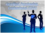 Certified Purchasing  Professional (CPP)