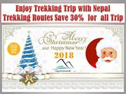Enjoy Trekking Trip with Nepal Trekking Routes Save 30%  for  all Trip
