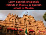 Learn Spanish at Spanish Institute in Mexico or Spanish school in Mexi