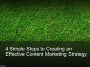 4 Simple Steps to Creating an Effective Content Marketing Strategy
