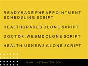 Readymade PHP Appointment Scheduling Script, Healthgrades Clone Script