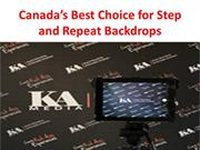 Canada's Best Choice for Step and Repeat Backdrops