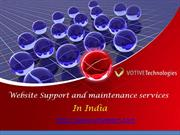 Website Support and maintenance services in India