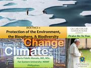 Climate Change-protection of the environment-biosphere-biodiversity-La