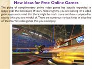 New ideas for Free Online Games