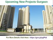 Upcoming New Projects Gurgaon