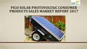 Pico Solar Photovoltaic Consumer Products Sales Market Report 2017