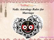 Vedic Astrology Rules for Marriage