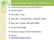 Kingson Green Villa is a Premium Housing Project in Noida Extension