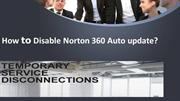 How to Disable Norton 360 Auto update