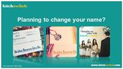 Planning to change your name?