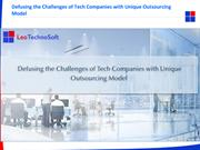 Defusing the Challenges of Tech Companies with Unique Outsourcing Mode