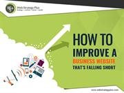 How to Improve a Business Website That's Falling Short