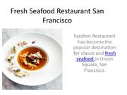 Popular Seafood Restaurant San Francisco