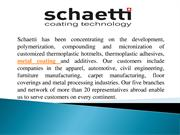 Metal Coating and Corrosion Protection | Schaetti GA