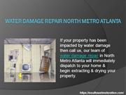 Water damage repair North Metro Atlanta