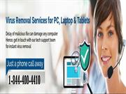 Virus Removal Technical Support Phone Number 1-844-400-4410