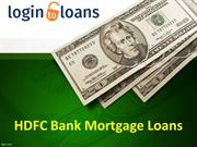 HDFC Bank Mortgage Loans, Apply for HDFC Bank Mortgage Loans in India